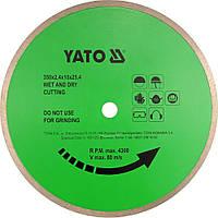 Диск алмазный сплошной YATO YT-5974