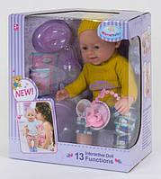 Пупс интерактивный кукла 42 см 13 функций аксессуары Warmbaby WZJ 030-513