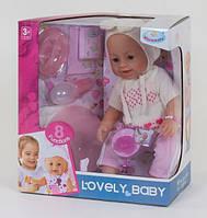 Пупс интерактивный кукла 42 см 8 функций аксессуары Warmbaby 8040-557