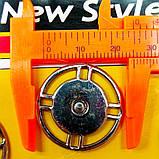 D=25 мм кнопки металлические декоративные для одежды пришивные графит (653-Т-0752), фото 2