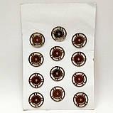 D=25 мм кнопки металлические декоративные для одежды пришивные графит (653-Т-0752), фото 4