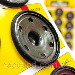 D=30 мм кнопки металлические обтянутые тканью декоративные для одежды пришивные (653-Т-0748)