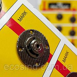 D=20 мм кнопки металлические декоративные для одежды пришивные графит (653-Т-0753)