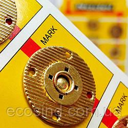 D=25 мм кнопки металлические декоративные для одежды пришивные золотой (653-Т-0756)