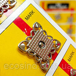 D=20 мм кнопки металлические декоративные для одежды пришивные серый (653-Т-0759)