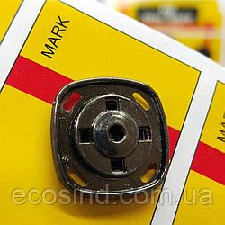 D=20 мм кнопки металлические декоративные для одежды пришивные графит (653-Т-0762)