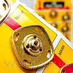 D=25 мм кнопки металлические декоративные для одежды пришивные золотой (653-Т-0765)