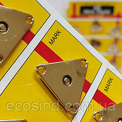 D=25 мм кнопки металлические декоративные для одежды пришивные золотой (653-Т-0766)