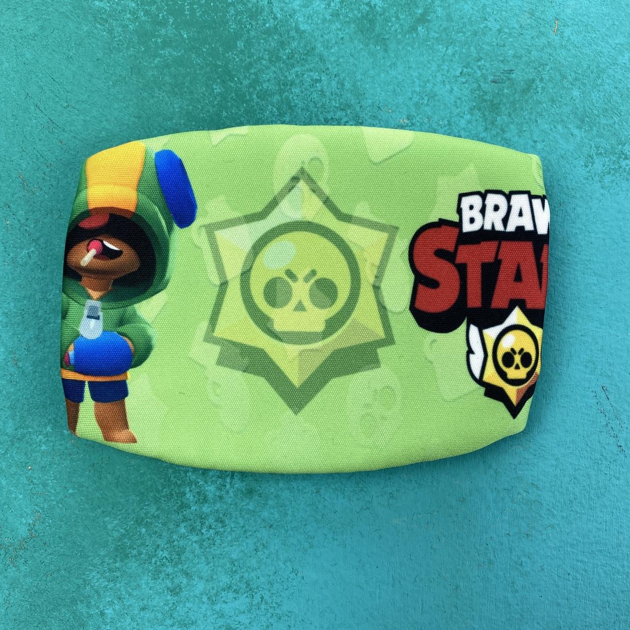 Детская маска brawl stars салатовый