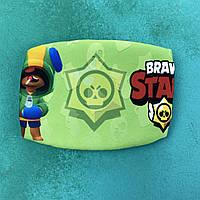 Детская маска brawl stars салатовый, фото 1