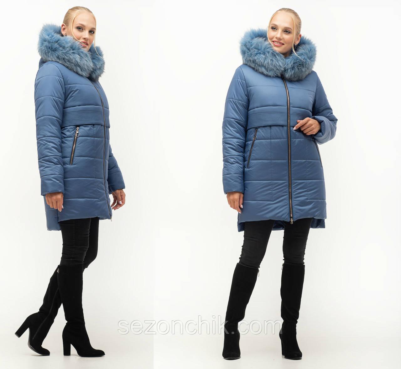 Зимняя женская куртка пуховик фото