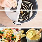 Многофункциональная вращающаяся терка-овощерезка с контейнером Basket Vegetable Cutter, Мультислайсер шинковка, фото 8