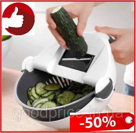 Многофункциональная вращающаяся терка-овощерезка с контейнером Basket Vegetable Cutter, Мультислайсер шинковка