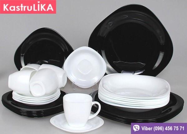 Набор столовой посуды Luminarc Carine White&black 30пр/6персон