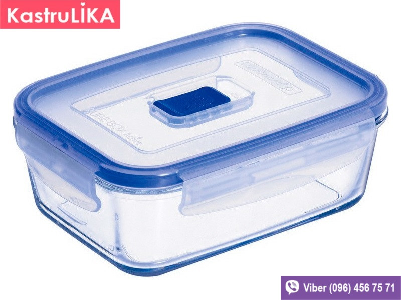 Стеклянный контейнер для еды Luminarc Pure Box Active прямоугольный 1220мл