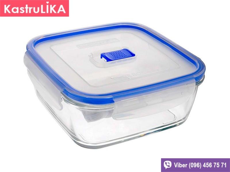 Скляний контейнер для їжі Luminarc Pure Box Active квадратний 760мл
