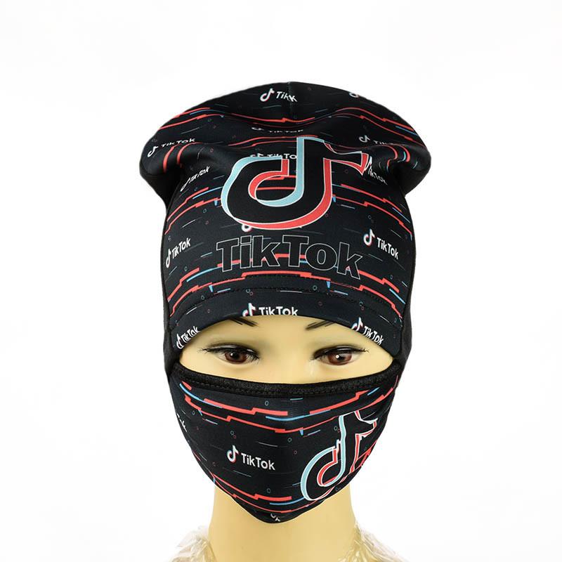 Комплект шапка і маска Tik Tok
