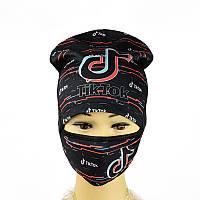 Комплект шапка і маска Tik Tok, фото 1