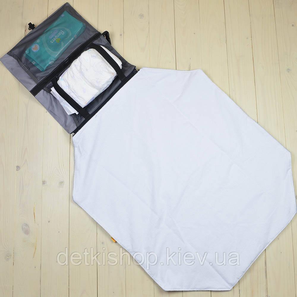 Дорожный пеленальный матрасик Kinder Comfort серый