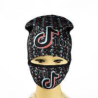 Комплект шапка и маска Tik Tok Черный 2