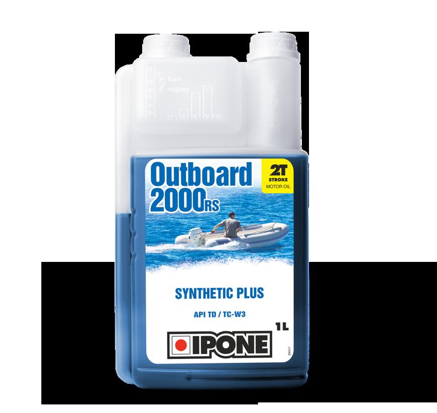 Моторне масло IPONE Outboard 2000 RS 2T (1л) для підвісних човнових моторів. TC W3, API TD