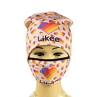 Шапка с маской Likee, фото 1
