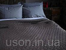 Покривало в'язане 220x240 BETIRES Harrison brown коричневе