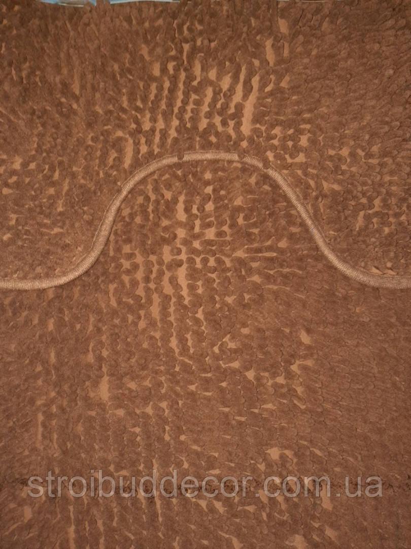 Набор ковриков в ванную и туалет с вырезом 50*80 ROOM MAT 2 в 1 Микрофибра антискользящий темно - коричневый