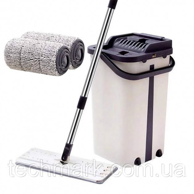 Швабра лентяйка и ведро с автоматическим отжимом Spin Mop NEW , комплект швабра+ведро