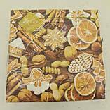 Дизайнерская салфетка (ЗЗхЗЗ, 20шт) LuxyНГ Новогодние сладости (1 пач), фото 5