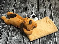 Детский плед игрушка. Детский плед+Игрушка Собачка
