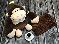 Детский плед игрушка. Детский плед+игрушка Обезьянка