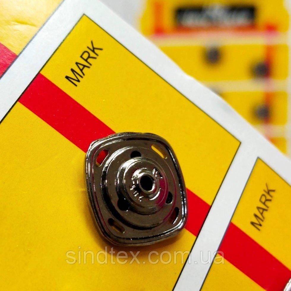 D=15 мм кнопки металлические декоративные для одежды пришивные серый (653-Т-0760)