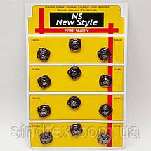 D=15 мм кнопки металлические декоративные для одежды пришивные серый (653-Т-0760), фото 2