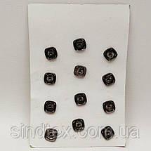 D=15 мм кнопки металлические декоративные для одежды пришивные серый (653-Т-0760), фото 3