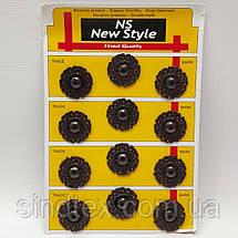 D=25 мм кнопки металлические декоративные для одежды пришивные серый (653-Т-0772), фото 2