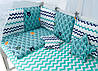 Детская постель Babyroom Classic Bortiki-01 (8 элементов)  бирюзовый (лес), фото 2