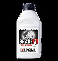 Тормозная жидкость IPONE Brake DOT 4 (500мл) для мотоциклов. DOT 3/DOT 4