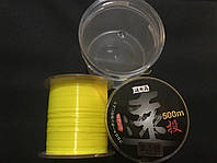 Рыболовная Карповая Леска флюо Fluo 500м 0.18мм (желтый)