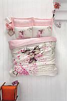 Постельное белье  сатин Cotton box Евро Sevda-Pembe