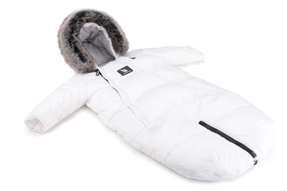 Зимний комбинезон - трансформер Cottonmoose Moose 0-6 M 767/71 white (белый)