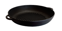 Чугунная сковорода гриль 200х35