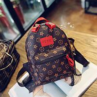 Женский красивый рюкзак с красной ручкой
