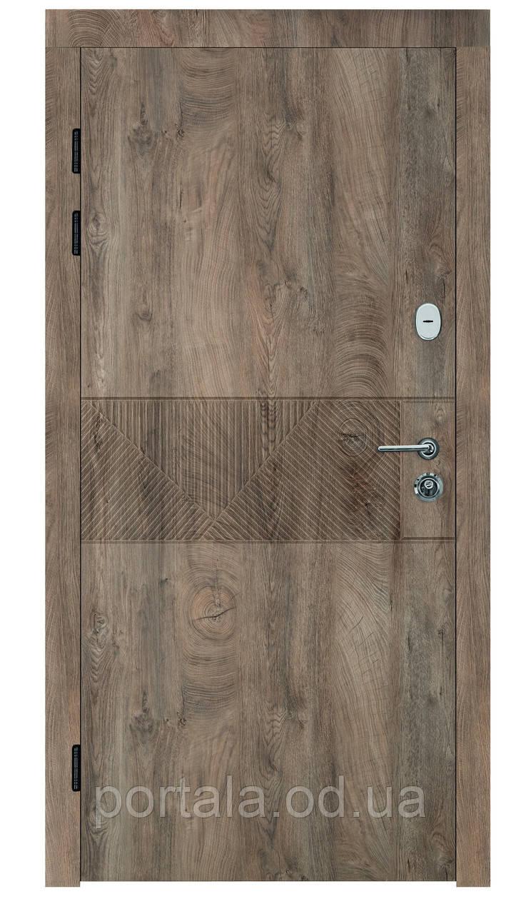 """Входная дверь """"Портала"""" серия Трио ― модель Монблан (Три контура)"""