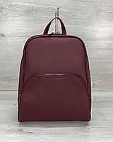 Рюкзак бордовый женский 46607 ракушка на молнии, фото 1