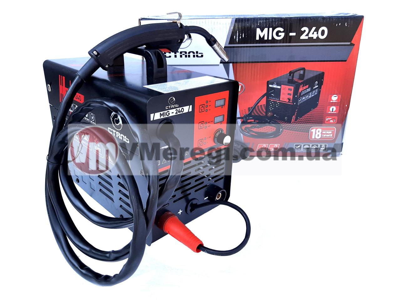 Сварочный полуавтомат инверторный Сталь MIG-240 (MIG / MAG / MMA)