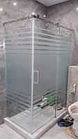 Угловые душевые кабины из стекла с раздвижными дверями