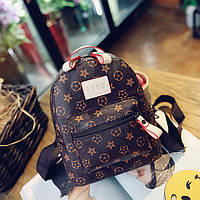 Женский красивый рюкзак с беж ручкой