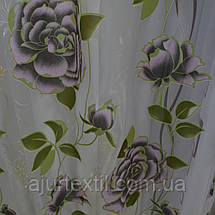 "Тюль органза деворе ""Роза фиолет деворе"", фото 2"