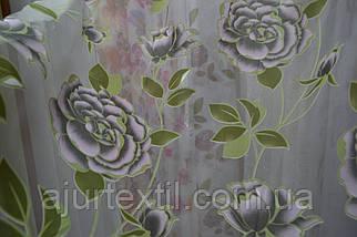 "Тюль органза деворе ""Роза фиолет деворе"", фото 3"